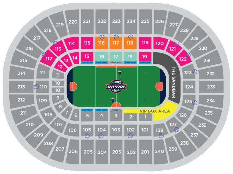Riptide Seating Chart